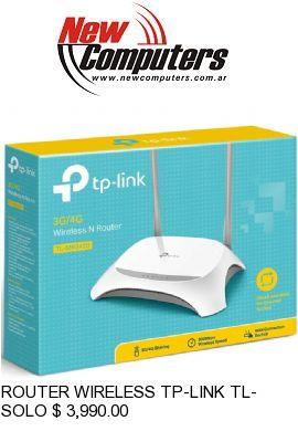 ROUTER WIRELESS TP-LINK TL-MR3420 3G:El Router Inal�mbrico Lite N TL-MR3420 3G/3.75G de TP-LINK le permite establecer r�pidamente una red inal�mbrica a 300Mbps y compartir una conexi�n m�vil a 3G/3.75G.