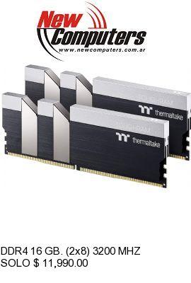 DDR4 16 GB. (2x8) 3200 MHZ THERMALTAKE TOUGHRAM Z-ONE: