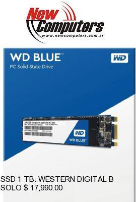 SSD 1 TB. WESTERN DIGITAL BLUE: