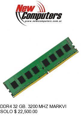 DDR4 32 GB. 3200 MHZ MARKVISION:
