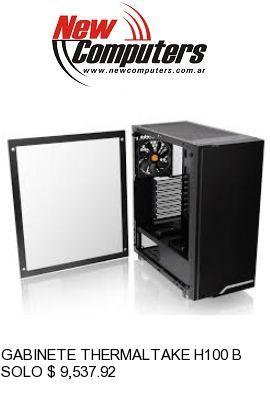 GABINETE THERMALTAKE H100 BLACK TEMPERED GLASS: