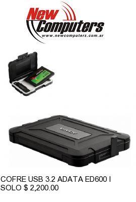 COFRE USB 3.2 ADATA ED600 IP54 NEGRO: