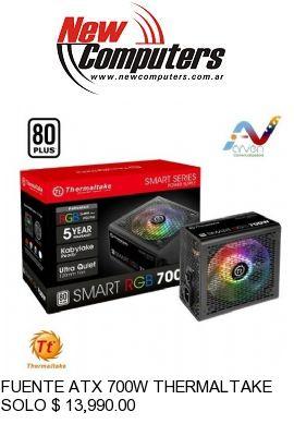 FUENTE ATX 700W THERMALTAKE SMART RGB:
