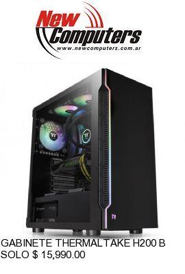 GABINETE THERMALTAKE H200 BLACK RGB TEMPERED GLASS: