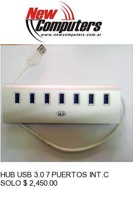 HUB USB 3.0 7 PUERTOS INT.CO KQ-021H ALUMINIO: