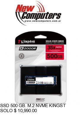 SSD 500 GB. M.2 NVME KINGSTON A2000: