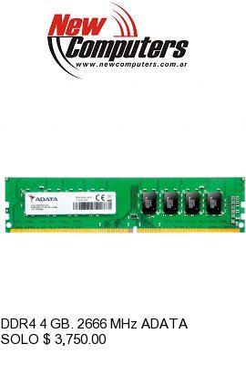 DDR4 4 GB. 2666 MHz ADATA:
