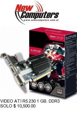 VIDEO ATI R5 230 1 GB. DDR3 SAPPHIRE: