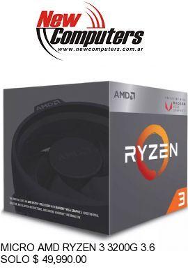 MICRO AMD RYZEN 3 3200G 3.6 GHz AM4: