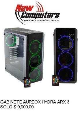 GABINETE AUREOX HYDRA ARX 330 RGB C/REMOTO (SOLO PC):