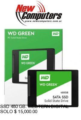 SSD 480 GB. WESTERN DIGITAL GREEN M.2: