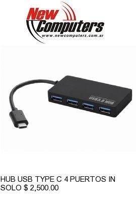 HUB USB TYPE C 4 PUERTOS INTCO KQ002H: