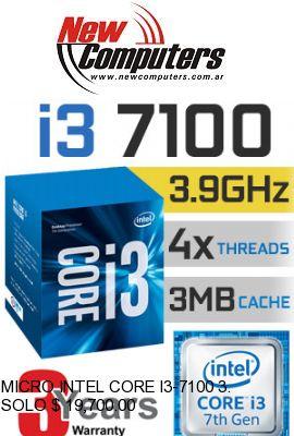 MICRO INTEL CORE I3-7100 3.9 GHz S.1151: