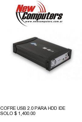 COFRE USB 2.0 PARA HDD IDE NOGA UB4P: