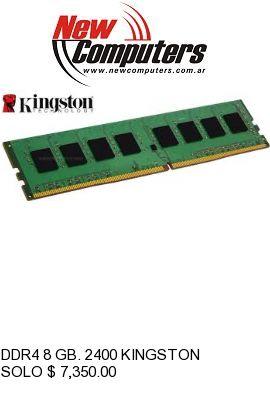 DDR4 8 GB. 2400 KINGSTON: