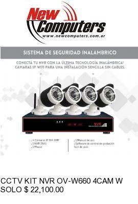 CCTV KIT NVR OV-W660 4CAM WIFI 1MPX: