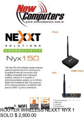 ROUTER WIRELESS NEXXT NYX 150: