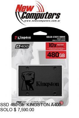 SSD 480 Gb. KINGSTON A400: