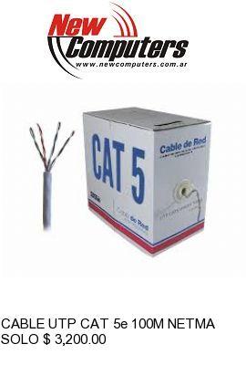 CABLE UTP CAT 5e 100M NETMAK INTERIOR: