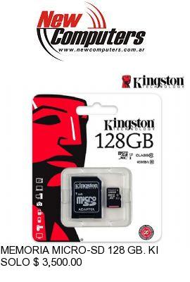 MEMORIA MICRO-SD 128 GB. KINGSTON CLASS 10: