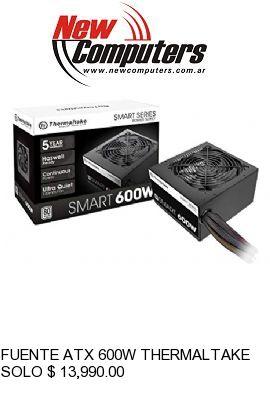 FUENTE ATX 600W THERMALTAKE SMART WHITE 80 PLUS: