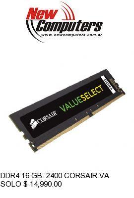 DDR4 16 GB. 2400 CORSAIR VALUE:
