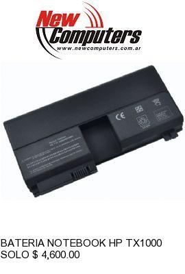 BATERIA NOTEBOOK HP TX1000 / TX2000 441132-003: