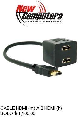 CABLE HDMI (m) A 2 HDMI (h) NETMAK NM-C62: