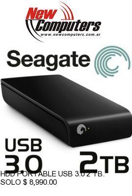 HDD PORTABLE USB 3.0 2 TB. SEAGATE: